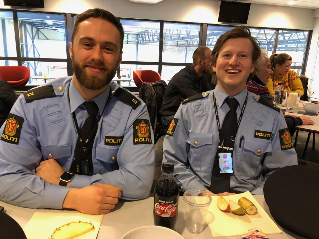 Studenter fra politiet deltok på møtet